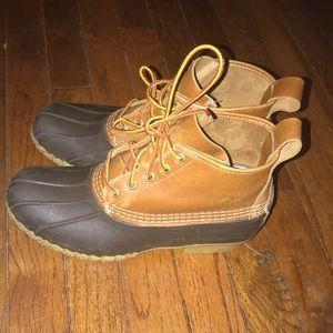"""6"""" LL Bean Boots Brown Duck Boots Women's 10"""